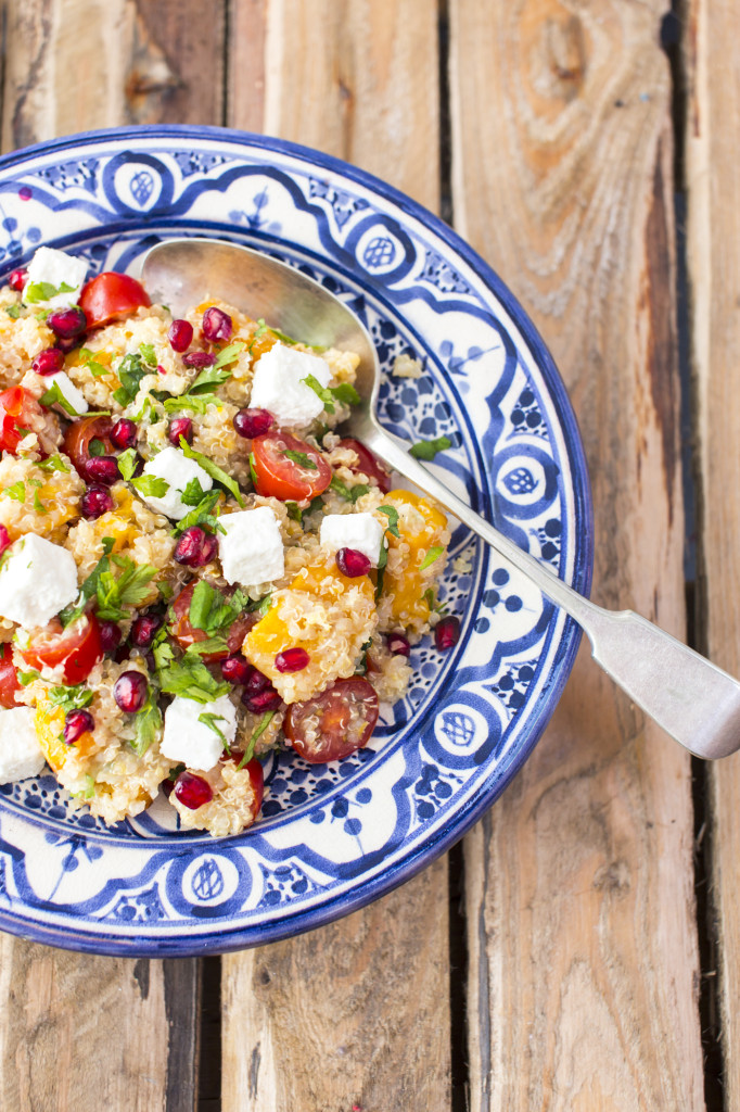 Quinoa, feta and butternut squash salad