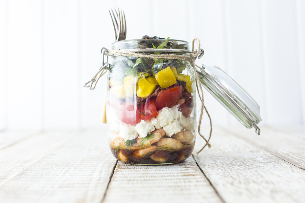 Rainbow salad in a Jar - photo by Sharron Gibson, recipe by Katie Bryson