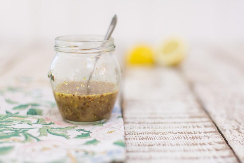 Lemon, honey and mustard dressing