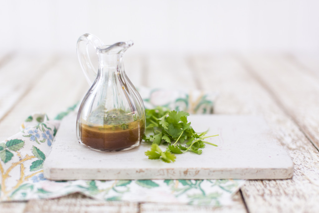 Coriander, lime and sesame dressing