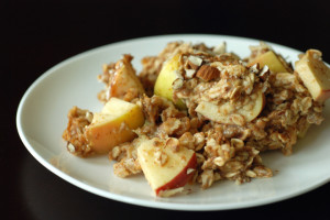 The Taste Space's baked apple and banana oatmeal
