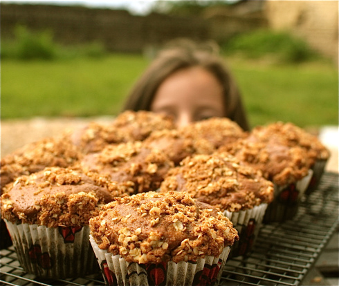 Rhubarb crumble muffins from Chez Foti