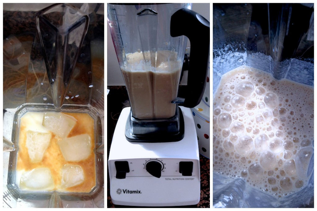 Making iced coffee in the Vitamix