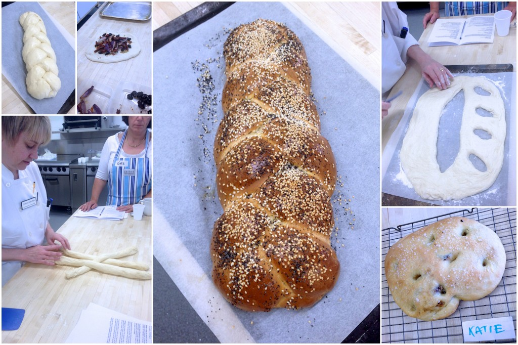 Bread making demonstration at Leiths