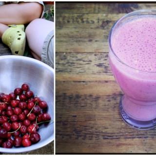 Cherry berry breakfast shake