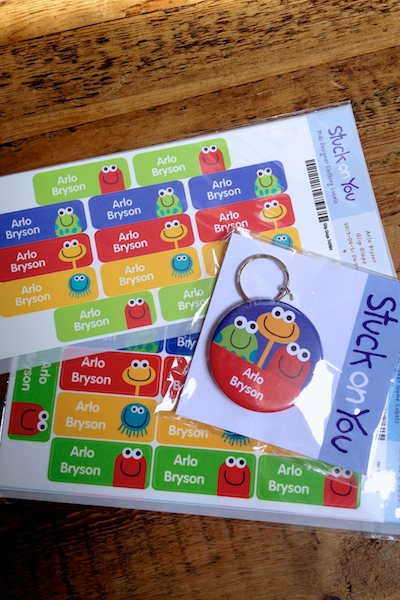 Arlo's labels for back to school