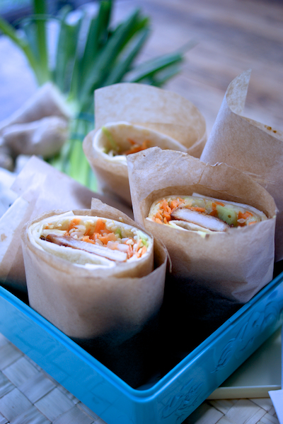 Asian turkey wraps