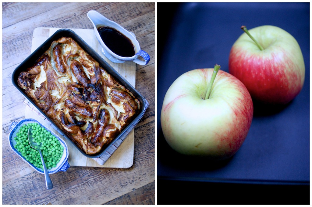 Sausage and apple toad in the hole on feedingboys.co.uk