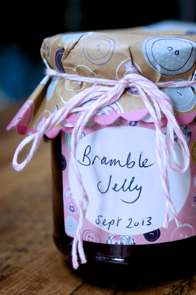 Bramble Jelly with Kirstie Allsopp labels and tops