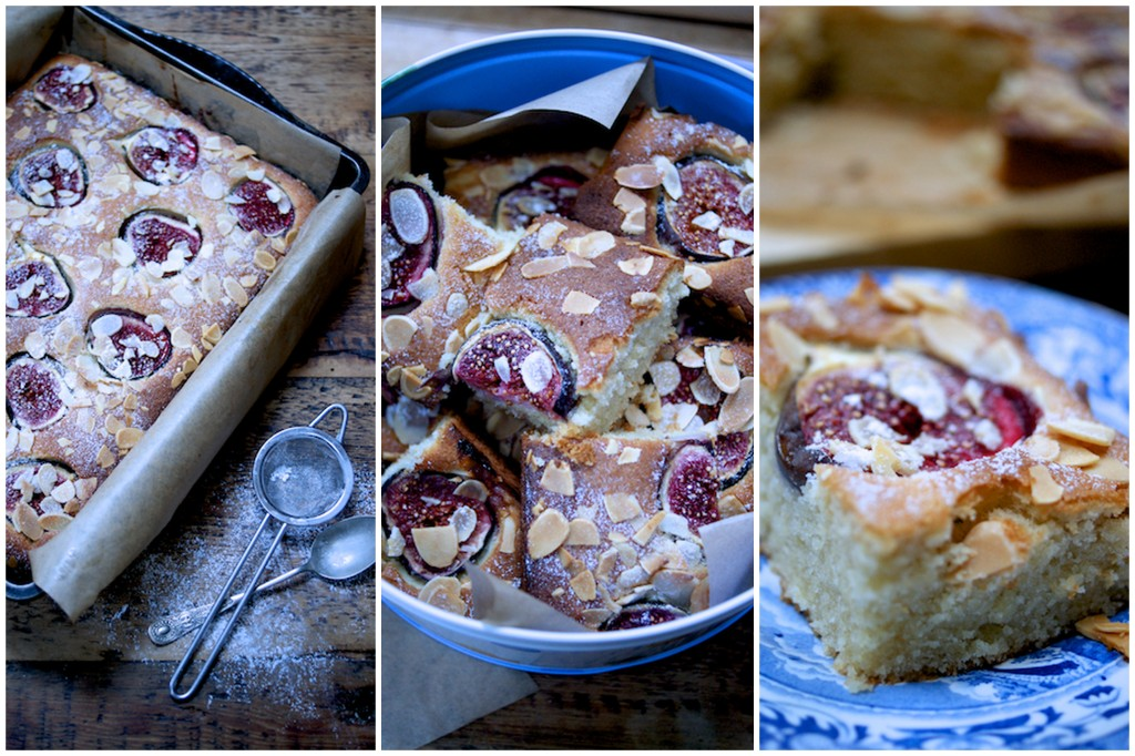 Fig and almond cake on feedingboys.co.uk