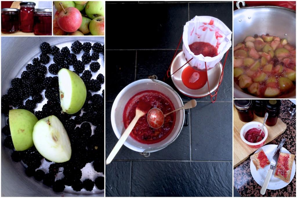 Making bramble jelly