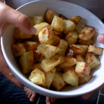 Quick roast potatoes