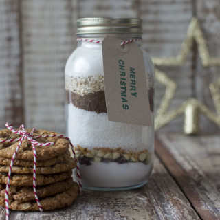 Cookie mix in a jar by Katie Bryson for the Good Food Channel Website