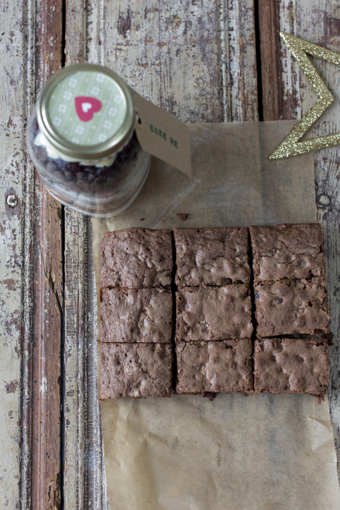 Styling notes on Brownie Mix in Jar by Katie Bryson for The Good Food Channel Website