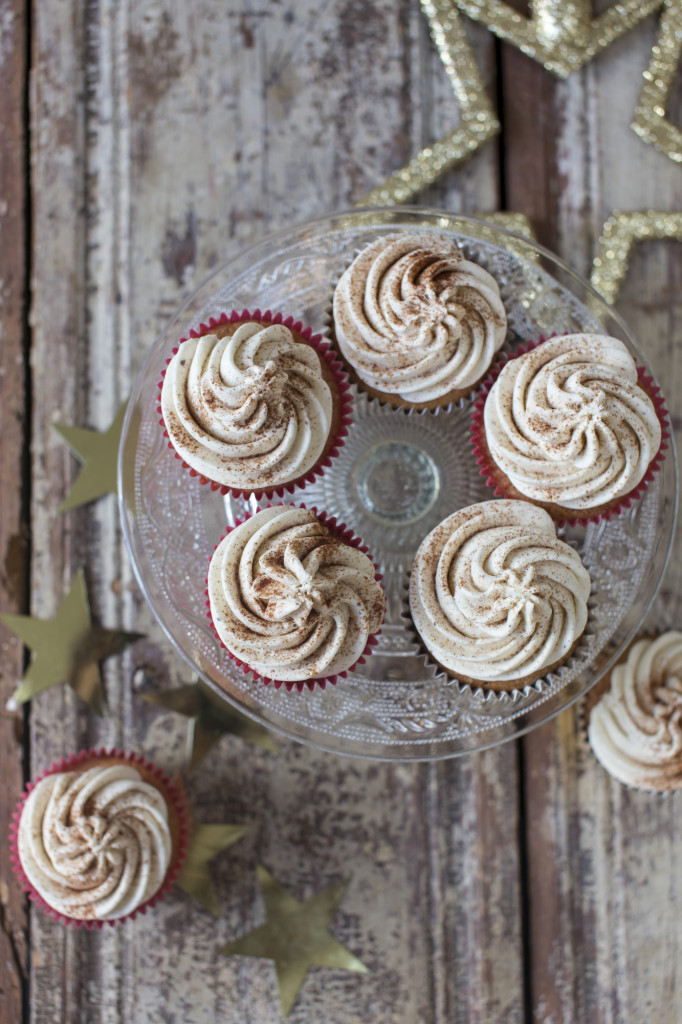 Good Food Christmas - Eggnog cupcakes, recipe by Lucy Lovell, photo by Sharron Gibson, styled by Katie Bryson