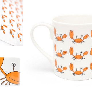 Win Gone Crabbing mug set