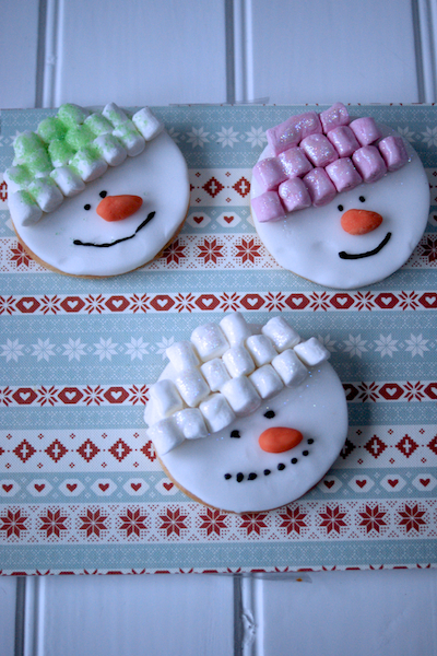 Snowman Cookies by Katie Bryson for Parentdish