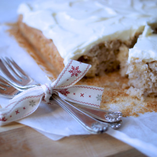 Spiced apple cake with brandy butter frosting by Katie Bryson for Parentdish