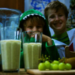 Green dragon ice-cream milkshake on feedingboys.co.uk