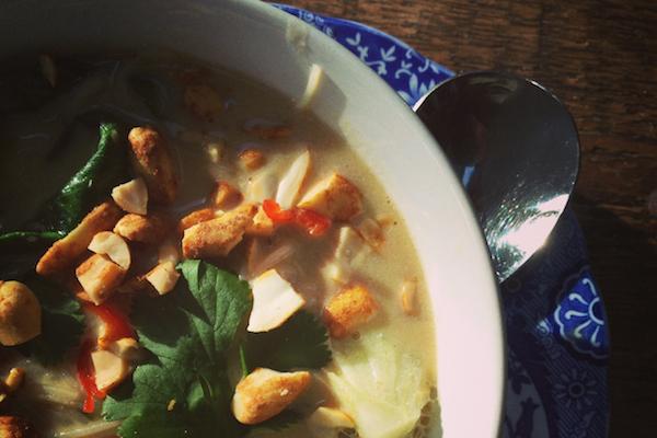 Thai noodle soup on feedingboys.co.uk
