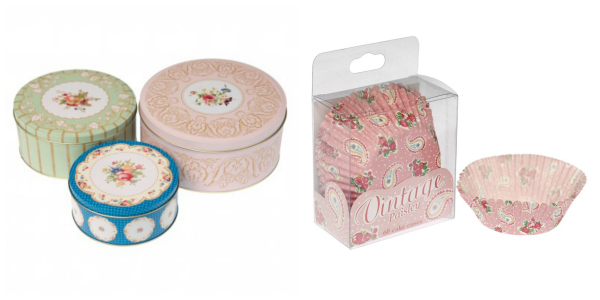 Feedingboys giveaway of vintage look cake tins and cases from dotcomgiftshop