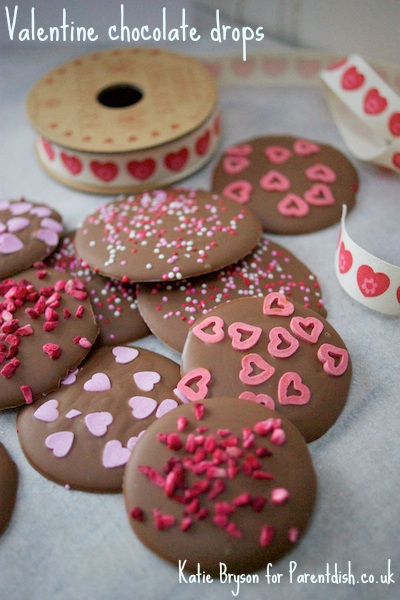 Valentine chocolate drops by Katie Bryson for Parentdish.co.uk