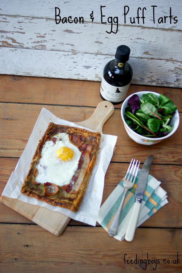 Bacon and Egg Puff Tarts on feedingboys.co.uk