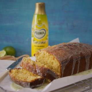 Coconut and lime drizzle cake