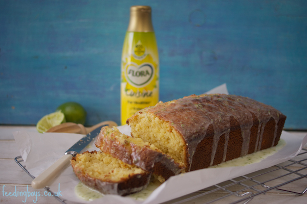 Easy coconut and lime drizzle loaf cake