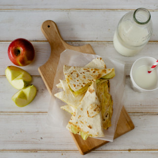 Cheese and apple quesadillas