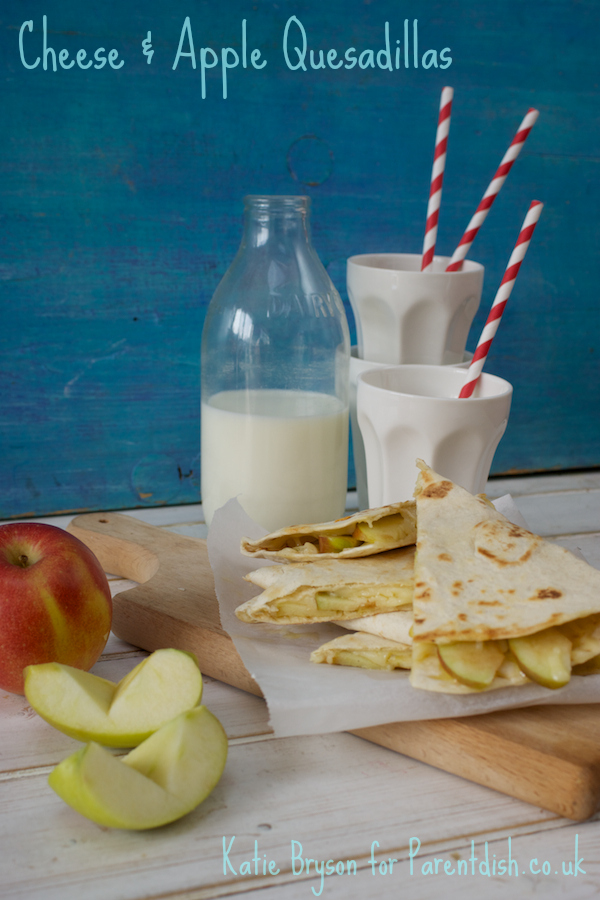 Cheese and apple quesadillas by Katie Bryson for Parentdish.co.uk