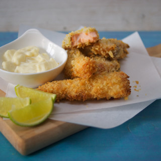 Zesty salmon goujons by Katie Bryson for Parentdish.co.uk