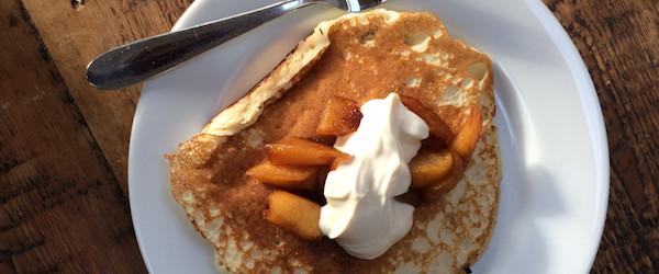 Toffee Apple Pancakes on Feeding Boys