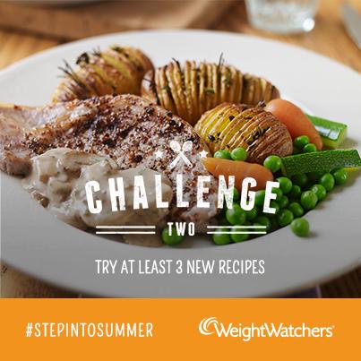 weight watchers #stepintosummer challenge two