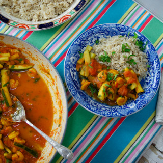 Prawn and Courgette Curry