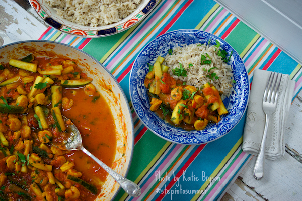 Prawn and Courgette Curry for Weightwatchers #stepintosummer photo by Katie Bryson