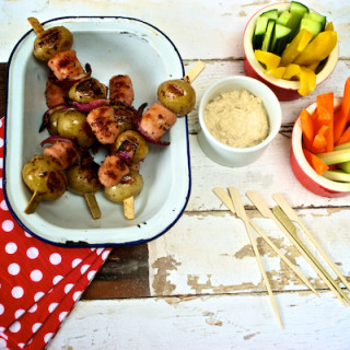 Sausage and mash on a stick for #nojunk image by Katie Bryson