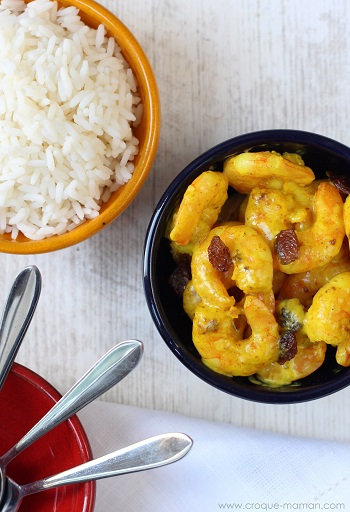 5 minute prawn curry by Croque Maman