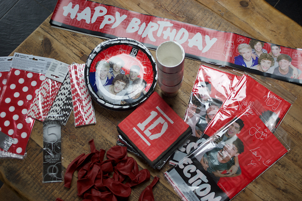 One Direction Party supplies from Tiger Feet Party