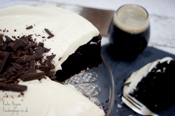 Chocolate Guinness Cake on feeding boys.co.uk