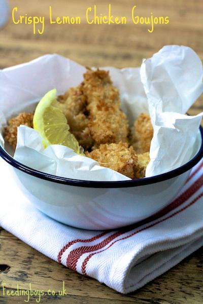 Crispy Lemon Chicken Goujons on Feedingboys.co.uk