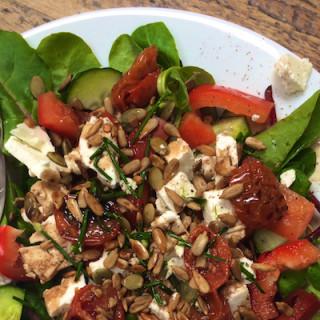 Feta and Sunblush Tomato Salad on feedingboys.co.uk