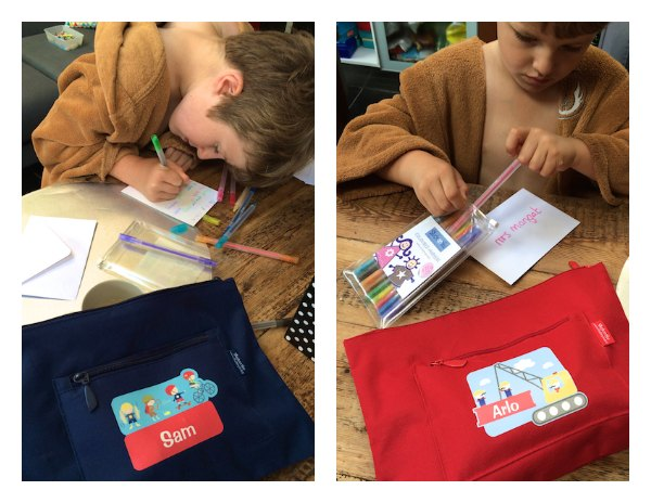 Sam & Arlo review the Stuck On You Stationary Kits for Feedingboys.co.uk