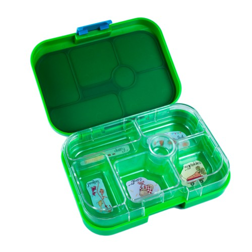 Empty YumBox with illustrations to show food groups