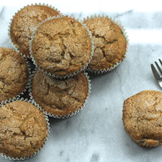 Banana, Nectarine and Cinnamon Muffins