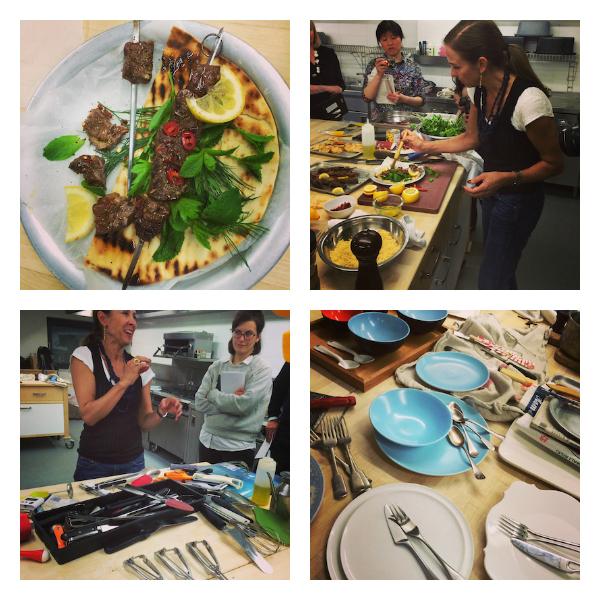 Jennifer Joyce demonstrates her food styling skills at Leiths