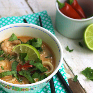 Spicy Prawn and Noodle Soup
