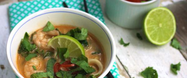 Spicy Prawn Noodle Soup on Feedingboys.co.uk