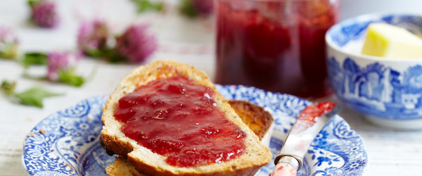 Strawberry and Rosewater Jam, styled by Katie Bryson, photo by Stuart Ovenden
