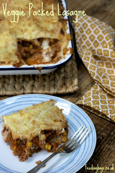Veggie Packed Lasagne from Feedingboys.co.uk